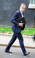 LONDON, UNITED KINGDOM - NOVEMBER 06: Parliamentary Secretary to the Treasury (Chief Whip) Julian Smith leaves after a Cabinet meeting at 10 Downing Street in central London. November 06, 2018 in London, England.<br /> CAP/GOL<br /> &copy;GOL/Capital Pictures