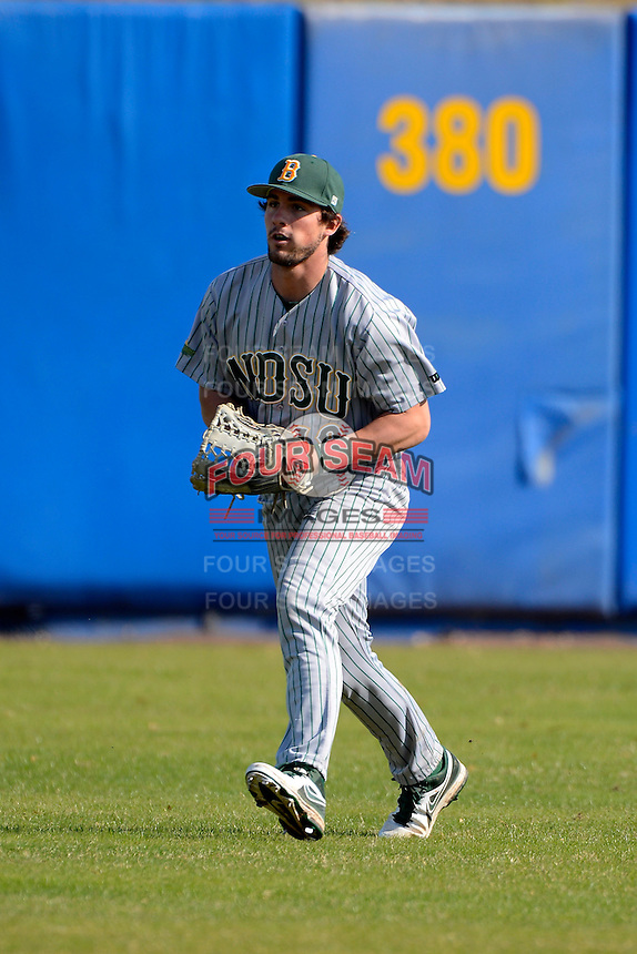 North Dakota State Bison outfielder Kyle Kleinendorst (18) during practice before a game against the Bowling Green Falcons at Chain of Lakes Stadium on March 9, 2013 in Winter Haven, Florida.  NDSU defeated Bowling Green 8-5.  (Mike Janes/Four Seam Images)