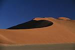 Sand dunes in Sossusvlei in Namibia.
