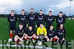 Asdee Rovers who lined out against Rattoo Rovers in the Denny league on Saturday.<br /> Kneeling l to r: Seamus O&rsquo;Sullivan, Darragh Keane, Eoin Tydings, Liam McElligott and Padraig O&rsquo;Neill.<br /> Standing l to r: Martin Collins, Joe Lynch, John Martin Horgan, Cillian Beasley, Joe O&rsquo;Brien and Kenneth Tydings,
