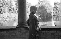 Potsdam, parco di Sanssouci. Stagno alla Chiesa della Pace --- Potsdam, Sanssouci Park. Pool at the Church of Peace