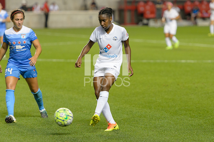 Chicago, IL - Wednesday Sept. 07, 2016: Danielle Colaprico, Tiffany McCarty during a regular season National Women's Soccer League (NWSL) match between the Chicago Red Stars and FC Kansas City at Toyota Park.