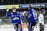Uppsala 2014-01-12 Bandy  IK Sirius - GAIS Bandy :  <br />   Sirius Ilja Grachev har gett Sirius ledningen med 2-1 och jublar med Sirius Ted Wiklund<br /> (Foto: Kenta J&ouml;nsson) Nyckelord:  jubel gl&auml;dje lycka glad happy