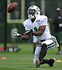 Jeremy Ross #11 of the New York Jets fields a punt during team training camp at Atlantic Health Jets Training Center in Florham Park, NJ on Saturday, July 30, 2016.