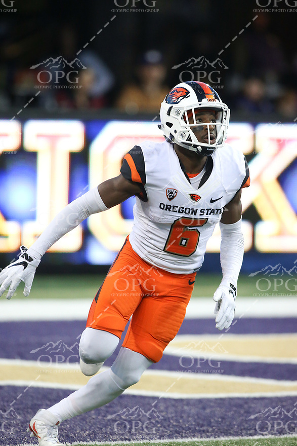 22 October 2016:   Oregon State's Victor Bolden Jr. against Washington. Washington defeated Oregon State 41-17 at the University of Washington in Seattle, WA.