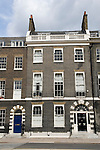 Georgian town house. Bedford Square Bloomsbury London WC1 England UK