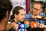 20161005. Pablo Iglesias during the presentation of the new book of Jorge Aleman.