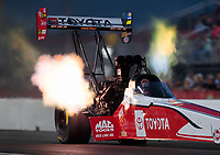 Apr 12, 2019; Baytown, TX, USA; NHRA top fuel driver Doug Kalitta during qualifying for the Springnationals at Houston Raceway Park. Mandatory Credit: Mark J. Rebilas-USA TODAY Sports