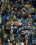 Nevada fans during an NCAA college basketball game against Utah State in Reno, Nev., Wednesday, Jan. 2, 2019. (AP Photo/Tom R. Smedes)