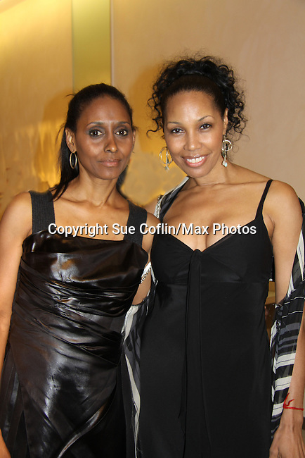 Guiding Light Kim Brockington poses with friend & actress Sally Stewart - The Innaugural Celebration of Color on Broadway Awards were held on June 8, 2011 at SAKS Fifth Avenue, New York City, New York. The event was held upstairs where beautiful shoes are sold and where a part of the sales this night will benefit OPUS 118 Harlem's School of Music. (Photo by Sue Coflin/Max Photos)