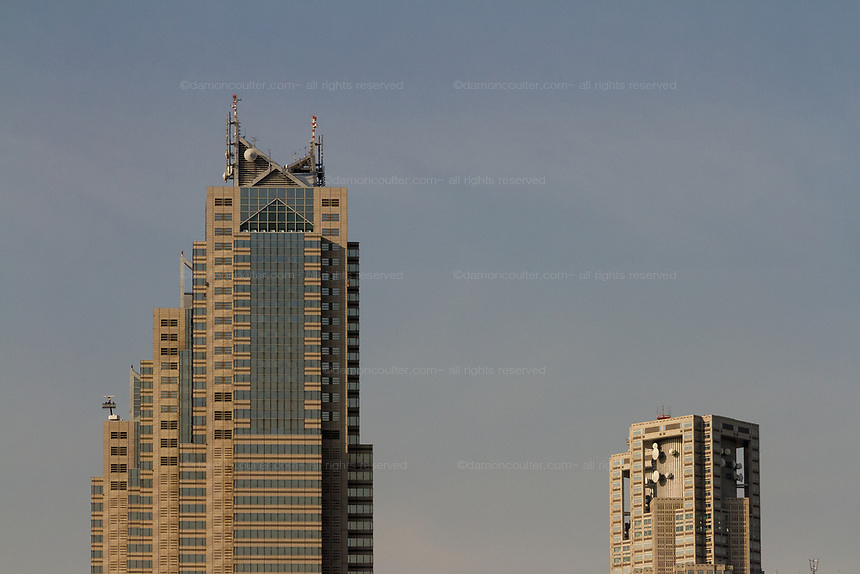 The towers of the Tokyo Metropolitan Government building in Shinjuku, Tokyo, Japan. Thursday February 15th 2018