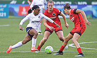 Portland, Oregon - Saturday May 21, 2016: Washington Spirit's Crystal Dunn (19) during a regular season NWSL match at Providence Park.