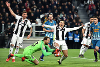 Cristiano Ronaldo of Juventus makes a foul on Jan Oblak of Atletico Madrid during the Uefa Champions League 2018/2019 round of 16 second leg football match between Juventus and Atletico Madrid at Juventus stadium, Turin, March, 12, 2019 <br />  Foto Andrea Staccioli / Insidefoto