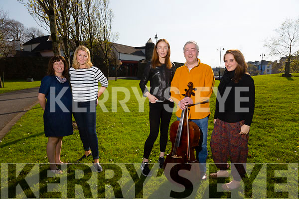 L-R Joanne Barry (co curator of the festival),Ann O'Donnell also (co curator of the festival),Jean Butler (choreographer),Neil Martin (composer and cellist) and Kristyn Fontanella (studio assistant).Launching the An Tocht Dance Festival is on Friday 24th and Saturday 25th Of April in Siamsa Tire