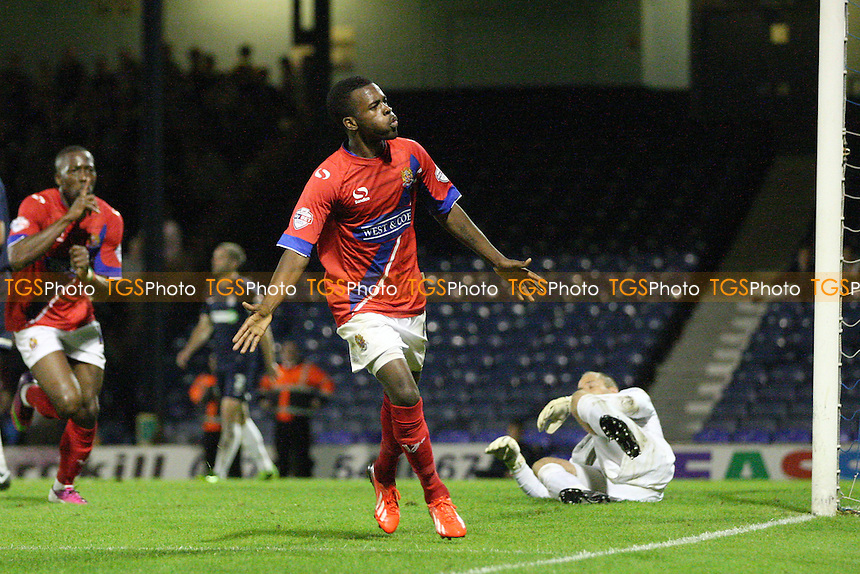 Zavon Hines of Dagenham and Redbridge celebrates scoring the Daggers third goal -  Southend United vs Dagenham and Redbridge at the Roots Hall Stadium - 08/10/13 - MANDATORY CREDIT: Dave Simpson/TGSPHOTO - Self billing applies where appropriate - 0845 094 6026 - contact@tgsphoto.co.uk - NO UNPAID USE