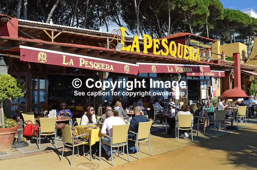 La Pesquera, restaurant, restaurant chain, this one located Marbella, Costa del Sol, Spain. 201212081054..Copyright Image from Victor Patterson, 54 Dorchester Park, Belfast, UK, BT9 6RJ..Tel: +44 28 9066 1296.Mob: +44 7802 353836.Voicemail +44 20 8816 7153.Skype: victorpattersonbelfast.Email: victorpatterson@me.com.Email: victorpatterson@ireland.com (back-up)..IMPORTANT: If you wish to use this image or any other of my images please go to www.victorpatterson.com and click on the Terms & Conditions. Then contact me by email or phone with the reference number(s) of the image(s) concerned.