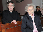 Revd Joyce Moore and Pauline Ballam pictured at the Harvest thanksgiving service at St Mary's Abbey Ardee. Photo: www.pressphotos.ie