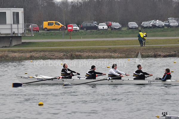 427 RydeRC Coastal4+..Marlow Regatta Committee Thames Valley Trial Head. 1900m at Dorney Lake/Eton College Rowing Centre, Dorney, Buckinghamshire. Sunday 29 January 2012. Run over three divisions.