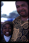African-American father and daughter at the Friendship Festival in Long Beach, CA