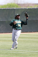 Tyreace House, Oakland Athletics 2010 minor league spring training..Photo by:  Bill Mitchell/Four Seam Images.