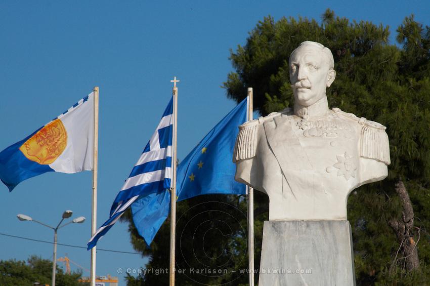 Statue of N Botsis, 18 Octobre 1912. Thessaloniki, Macedonia, Greece