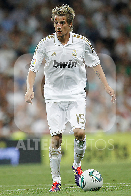 Real Madrid's Fabio Coentrao during Santiago Bernabeu Cup on august 24th 2011...Photo: Cesar Cebolla / ALFAQUI