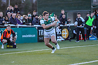 Seb STEGMANN of Ealing Trailfinders during the Greene King IPA Championship match between Ealing Trailfinders and Jersey Reds at Castle Bar , West Ealing , England  on 22 December 2018. Photo by David Horn.