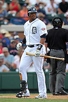 Detroit Tigers Victor Martinez #41 during a spring training game vs. the Boston Red Sox at Joker Marchant Stadium in Lakeland, Florida;  March 15, 2011.  Boston defeated Detroit 2-1.  Photo By Mike Janes/Four Seam Images