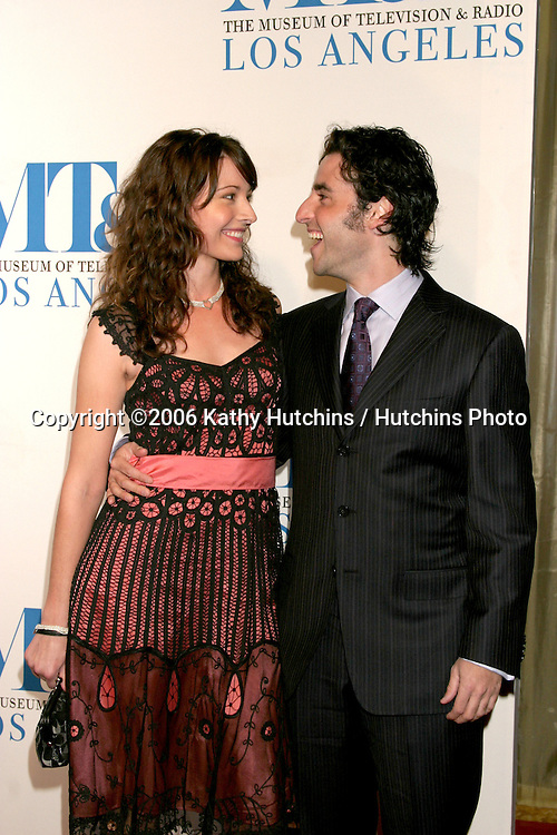David Krumhotz & date.Museum of TV & Radio Annual Gala IHO Les Moonves and Jerry Bruckheimer.Regent Beverly Wilshire Hotel.Beverly Hills, CA.October 30, 2006.©2006 Kathy Hutchins / Hutchins Photo....
