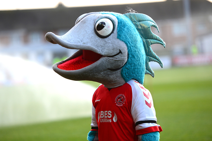 Fleetwood Town mascot Captain Cod looks on<br /> <br /> Photographer Richard Martin-Roberts/CameraSport<br /> <br /> The EFL Sky Bet League One - Fleetwood Town v Portsmouth - Saturday 29th December 2018 - Highbury Stadium - Fleetwood<br /> <br /> World Copyright © 2018 CameraSport. All rights reserved. 43 Linden Ave. Countesthorpe. Leicester. England. LE8 5PG - Tel: +44 (0) 116 277 4147 - admin@camerasport.com - www.camerasport.com
