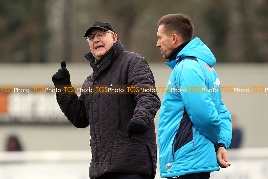 Dagenham manager John Still and assistant Darren Currie  during Sutton United  vs Dagenham & Redbridge, Vanarama National League Football at the Borough Sports Ground on 20th January 2018