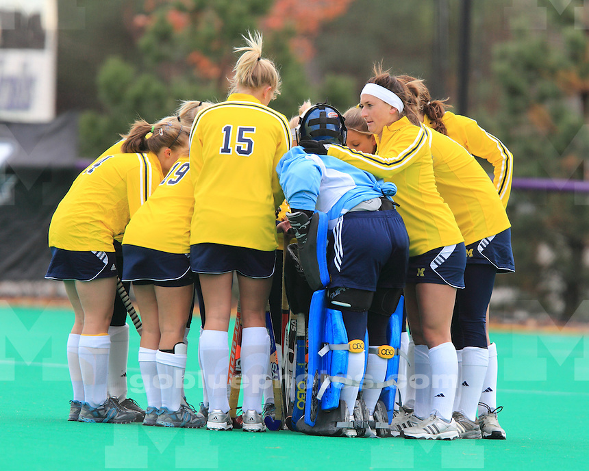 University of Michigan field hockey 4-3 OT victory over #8 Penn State University in the second round of the 2010 Big Ten Field Hockey Tournament at Northwestern University, in Evanston, IL, on November 5, 2010.