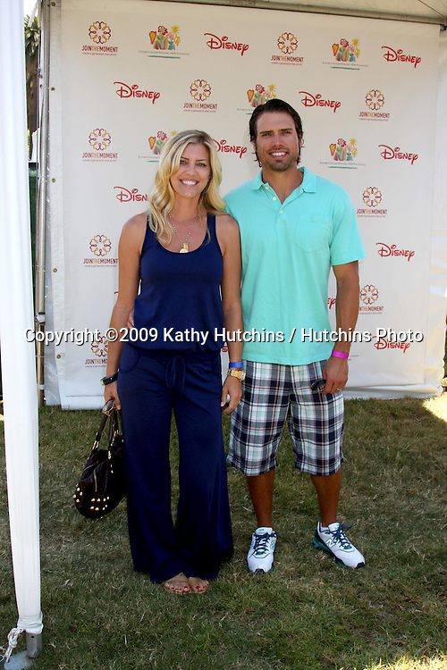 """Tobe & Joshua Morrow  arriving at """"A Time For Heroes Celebrity Carnival"""" benefiting the Elizabeth Glaser Pediatrics AIDS Foundation at the Wadsworth Theater Grounds in Westwood , CA on June 7, 2009 .©2009 Kathy Hutchins / Hutchins Photo."""