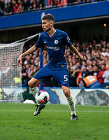 Jorginho of Chelsea during the Premier League match between Chelsea and Liverpool at Stamford Bridge, London, England on 22 September 2019. Photo by Liam McAvoy / PRiME Media Images.