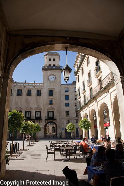 City Hall in Plaza del Ayuntamiento Square, Alicante