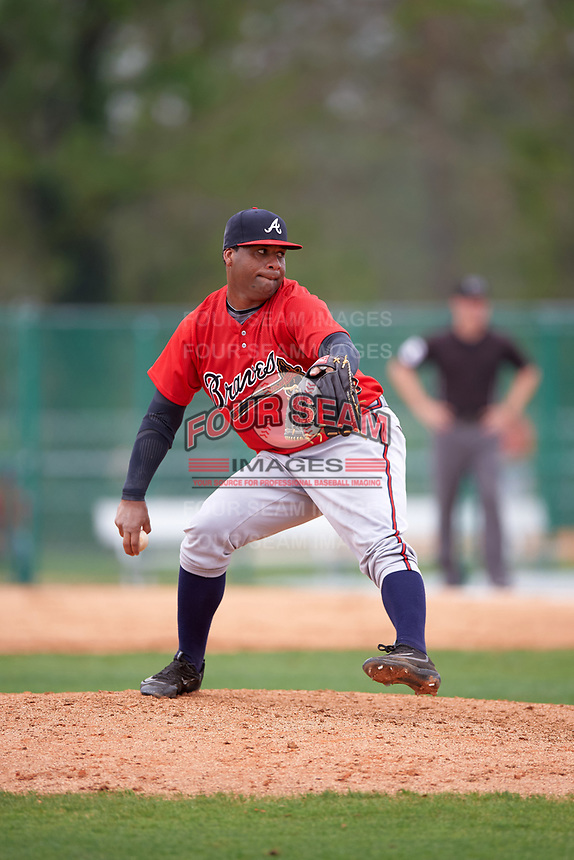 Atlanta Braves Joel De La Cruz (40) during an intrasquad Spring Training game on March 29, 2016 at ESPN Wide World of Sports Complex in Orlando, Florida.  (Mike Janes/Four Seam Images)