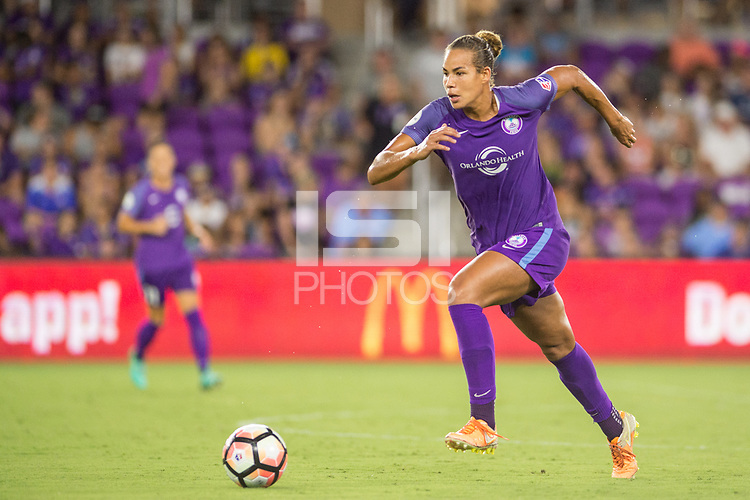 Orlando, FL - Saturday July 15, 2017: Toni Pressley during a regular season National Women's Soccer League (NWSL) match between the Orlando Pride and FC Kansas City at Orlando City Stadium.