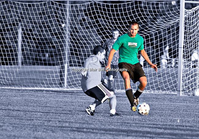 Soccer game at Bellevue Baptist Fields