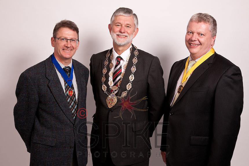 From left, Vice President Alan Radford, President Richard Nelson and Deputy Vice President Michael Auty QC