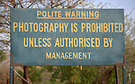 A sign outside the Mother of Mercy Hospital in Gidel, a village in the Nuba Mountains of Sudan.