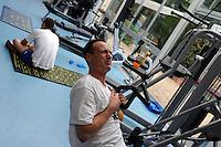 Salvatore Cimmino, nuotatore disabile, mentre si allena presso il Circolo Canottieri Aniene di Roma..Salvatore Cimmino, disabled swimmer, during his training at the Club of Rome Canottieri Aniene.
