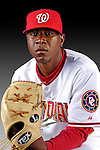 25 February 2007: Washington Nationals pitcher Eduarod Valdez poses for his Photo Day portrait at Space Coast Stadium in Viera, Florida.<br /> <br /> Mandatory Photo Credit: Ed Wolfstein Photo<br /> <br /> Note: This image is available in a RAW (NEF) File Format - contact Photographer.