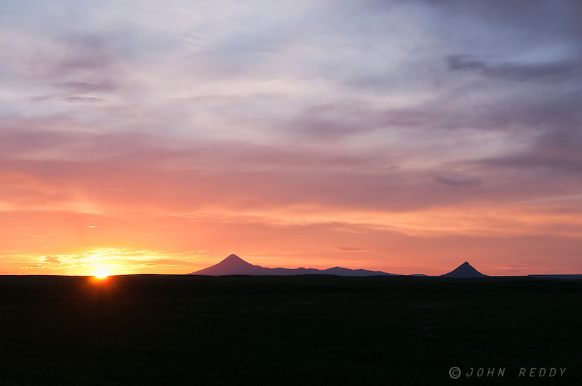 sunset in the Sweet Grass Hills