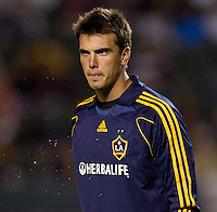 LA Galaxy goalkeeper Steve Cronin (1) looks towards the corner late in the second half. The Colorado Rapids defeated the LA Galaxy 1-0 during the preliminary rounds of the 2008 US Open Cup at Home Depot Center stadium in Carson, Calif., on Tuesday, May 27, 2008.