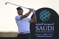 Nino Bertasio (ITA) on the 8th tee during the 2nd round of  the Saudi International powered by Softbank Investment Advisers, Royal Greens G&CC, King Abdullah Economic City,  Saudi Arabia. 31/01/2020<br /> Picture: Golffile | Fran Caffrey<br /> <br /> <br /> All photo usage must carry mandatory copyright credit (© Golffile | Fran Caffrey)