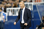 Real Madrid's coach Zinedine Zidane celebrates goal during La Liga match. April 5,2017. (ALTERPHOTOS/Acero)