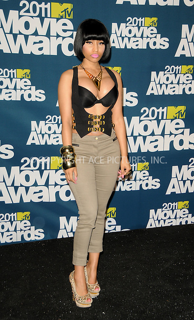 WWW.ACEPIXS.COM . . . . .  ....June 5 2011, Los Angeles....Nicki Minaj in the press room at the 2011 MTV Movie Awards at Universal Studios' Gibson Amphitheatre on June 5, 2011 in Universal City, California. ....Please byline: PETER WEST - ACE PICTURES.... *** ***..Ace Pictures, Inc:  ..Philip Vaughan (212) 243-8787 or (646) 679 0430..e-mail: info@acepixs.com..web: http://www.acepixs.com