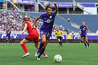 Orlando, FL - Sunday June 26, 2016: Christina Burkenroad  during a regular season National Women's Soccer League (NWSL) match between the Orlando Pride and the Portland Thorns FC at Camping World Stadium.