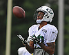 Robby Anderson #83 of the New York Jets catches a simulated kickoff during team training camp at Atlantic Health Jets Training Center in Florham Park, NJ on Wednesday, Aug. 3, 2016.