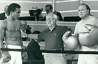 Sugar Ray Leonard, Micky Rooney, Bob Hope<br /> 1979<br /> Photo By John Barrett-PHOTOlink.net / MediaPunch